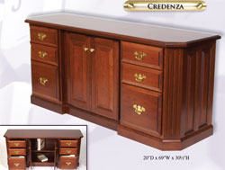 Amish Furniture : Fifth Avenue Collection Credenza