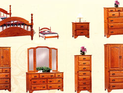 Amish Furniture : Oak Crest Bedroom Pieces