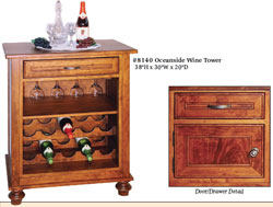Amish Furniture : Oceanside Wine Tower
