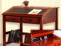 Amish Furniture : Superior Stand Up Cherry Desk