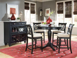 Dining Room : Camden Black Pub Set by American Drew