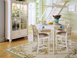 Dining Room : Camden White Pub Set by American Drew