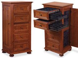 Amish Furniture : Amish Oak Jewelry Armoire