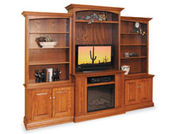 Amish Furniture : Amish Wall Entertainment Center
